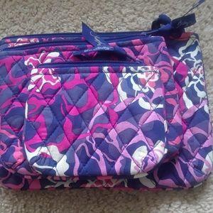 Vera bradley trio cosmetic bags